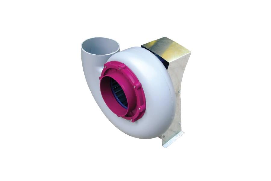 Quạt hút PP đầu vào với bộ giảm chấn và động cơ có sẵn