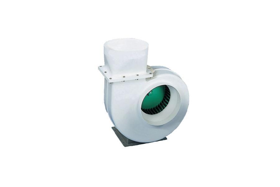 Quạt hút khí PP đầu vào với bộ giảm chấn và động cơ VSB20